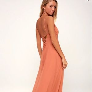 Dresses & Skirts - RUSTY ROSE LACE-UP MAXI